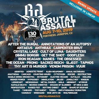 Brutal Assault 2019: el line up hasta ahora…