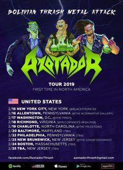 Azotador: Gira por Estados Unidos 2019
