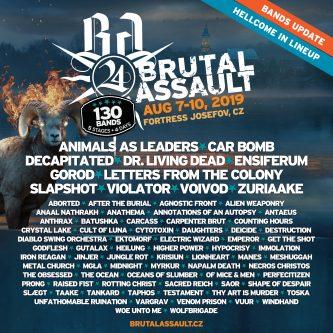Brutal Assault 2019: line up actualizado
