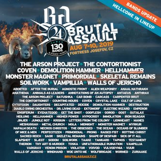 Brutal Assault 2019: más bandas en la cartelera