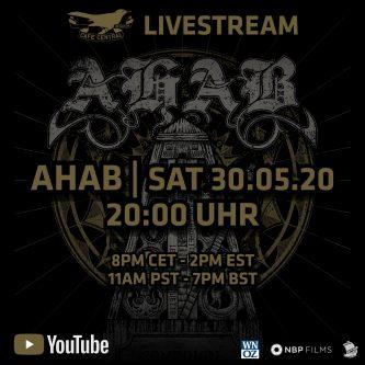 Ahab en vivo: show (Mayo 30, 2PM EST/8PM CET) y álbum en Junio